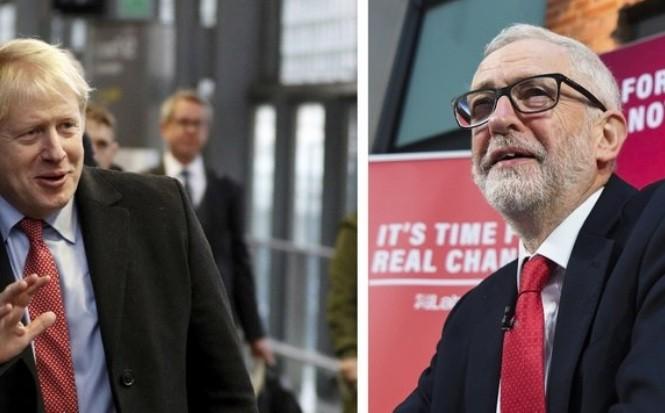 Thủ tướng Anh Boris Johnson (trái) và lãnh đạo Công đảng Jeremy Corbyn. Ảnh: AP