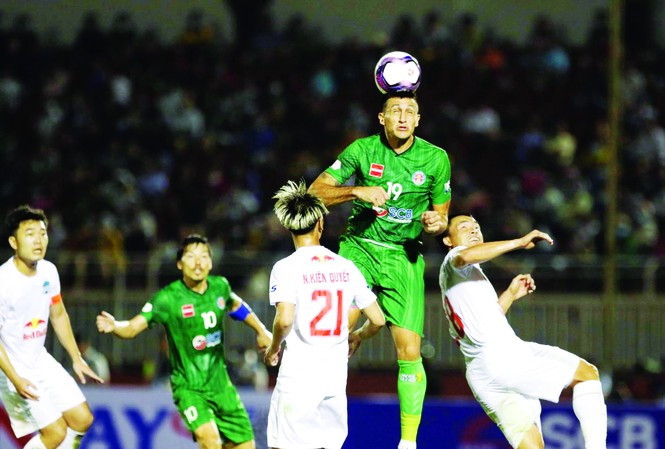 HAGL nhận trận thua đầu tiên ở LS V-League 2021 ảnh: Hữu Phạm