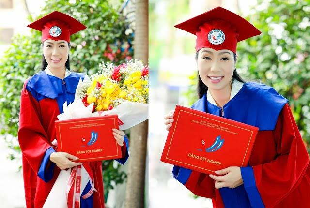Á hậu Trịnh Kim Chi tốt nghiệp Cử nhân Đại học Sân khấu - Điện ảnh ở tuổi 49