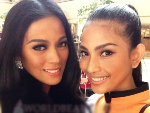 Trương Thị May chụp cùng Miss Philippines làm nóng diễn đàn