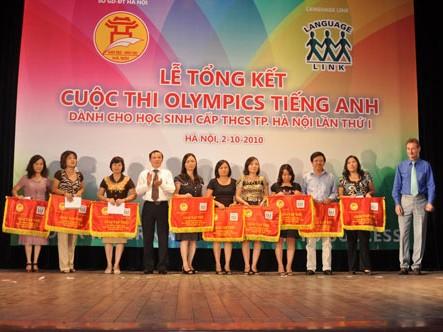 Đạt giải Olympic tiếng Anh sẽ được cộng điểm vào lớp 10