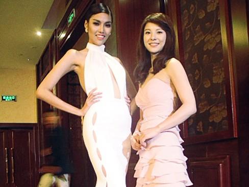 Lan Khuê nổi bật ở họp báo bên các siêu mẫu châu Á