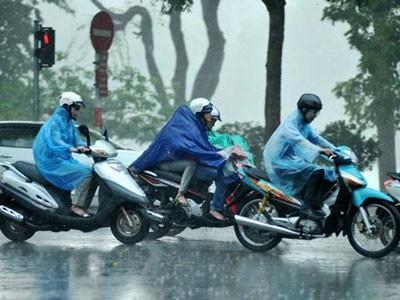 Gió mùa gây mưa dông diện rộng