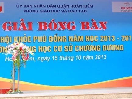 Prudential, báo Tiền Phong tổ chức giải bóng bàn cho học sinh