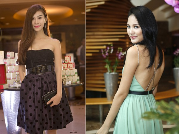 Mẫu chuyển giới đọ vai trần với Hoa hậu Hương Giang