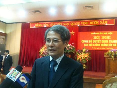 Bổ nhiệm Trưởng Ban Nội chính Thành ủy Hà Nội