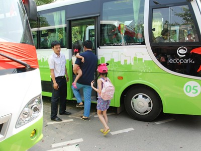 Ecopark đầu tư 15 tỷ cho hệ thống xe bus