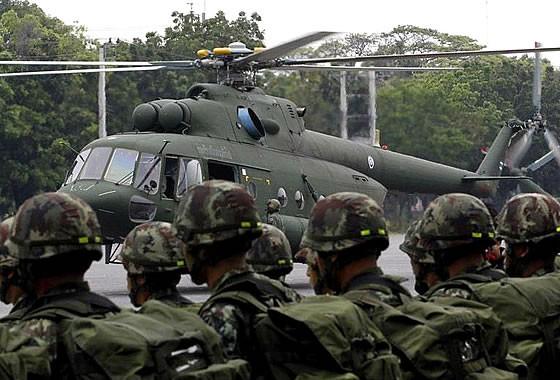 Thái Lan bổ sung trực thăng