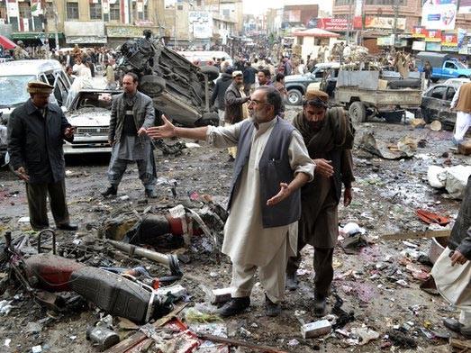 Hiện trường vụ đánh bom ở  Quetta,Pakistan
