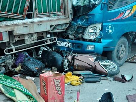 Hiện trường vụ tai nạn khiến hai phụ nữ thiệt mạng