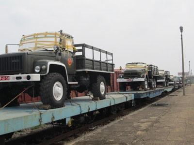Đoàn xe tiêu binh ra Quảng Bình phục vụ tang lễ Đại tướng