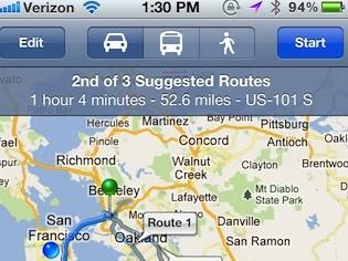 Google phát triển ứng dụng bản đồ riêng cho iOS
