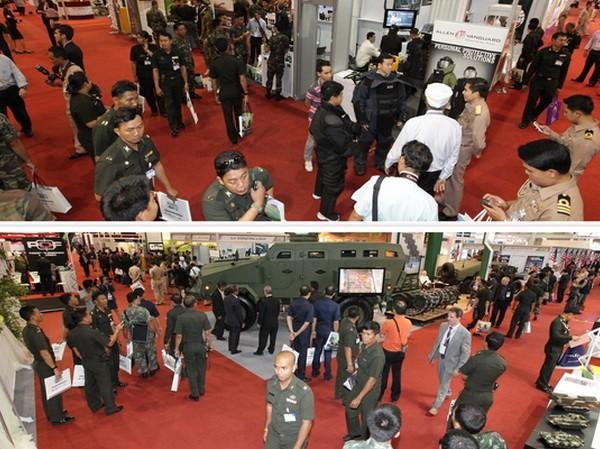Triển lãm vũ khí lớn nhất Đông Nam Á tại Thái Lan