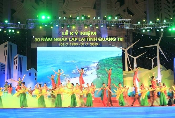 Chương trình nghệ thuật tại Lễ kỷ niệm 30 năm lập lại tỉnh Quảng Trị (1/7/1989 – 1/7/2019).