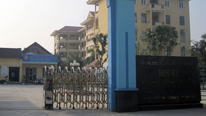 Trung tâm GDTX Thanh Hóa - nơi  40 học viên thuê địa điểm để ôn thi đầu vào bậc cao học, ngành Quản lý Kinh tế, ĐH Kinh tế - ĐHQG Hà Nội - Ảnh: N.M
