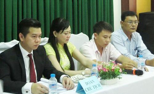 Chủ tịch HĐQT Trần Văn Chương (trái). Ảnh: Trần Quốc