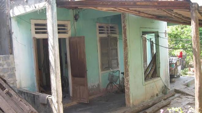 Ngôi nhà của hai mẹ con bị cáo Nam.