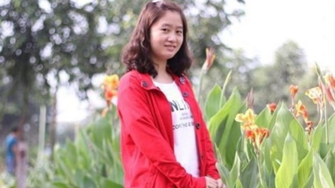 Sinh viên Lê Thị Hà Phương.
