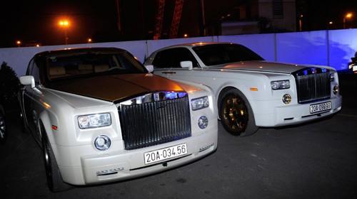 Cặp đôi siêu xe Rolls-Royce Phantom của vị đại gia Thái Nguyên. Ảnh: Vnexpress