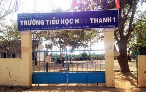 Trường tiểu học xảy ra vụ việc. Ảnh: Tư Huynh/VnExpress