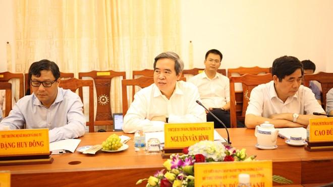 Uỷ viên Bộ Chính trị, Trưởng Ban kinh tế Trung ương Nguyễn Văn Bình làm việc với Tỉnh uỷ Ninh Thuận.