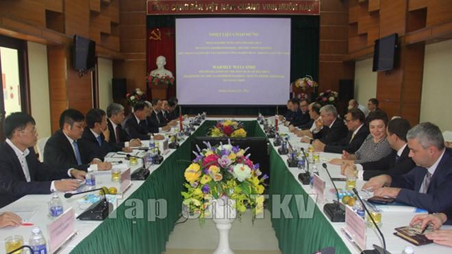 Lãnh đạo TKV tiếp và làm việc với Phó Thủ tướng Cộng hoà Belarus
