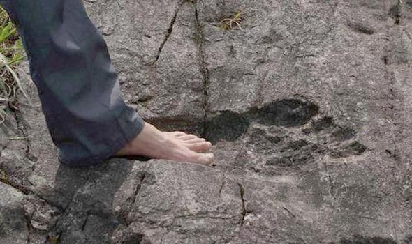 Đây là dấu chân chứng minh cho người khổng lồ?