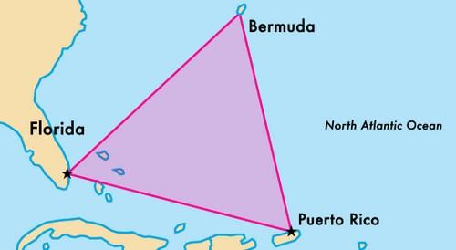 Vị trí tam giác quỷ Bermuda. Đồ họa: Big Think.