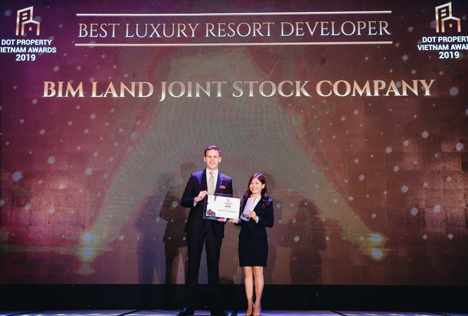 Bimland tiếp tục nhận giải thưởng danh giá trong lĩnh vực BĐS cao cấp