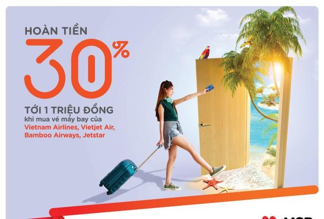 Tiết kiệm đến 30% trên giá đã giảm khi đặt vé máy bay 4 hãng cùng Thẻ tín dụng