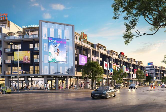 Dãy phố thương mại tại dự án Nhơn Hội New City