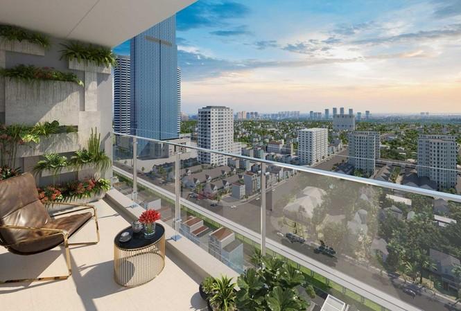 """Tọa lạc tại vị trí đẹp, cảnh quan xung quanh hài hòa, ít bị các tòa nhà che chắn tầm nhìn… cũng được xem là những """"điểm cộng"""" của chung cư cao cấp"""