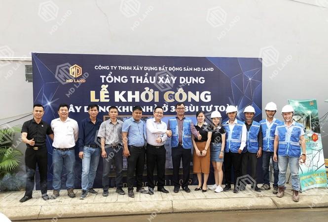 Lễ ký kết giữa Tổng thầu xây dựng MD Land & Công ty xây dựng Nam Tín.