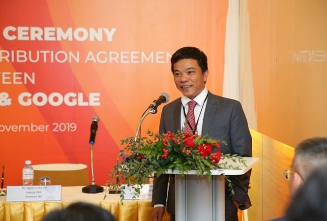 Ông Nguyễn Văn Hải – Đại diện Tập đoàn Vingroup phát biểu tại Lễ ký kết.