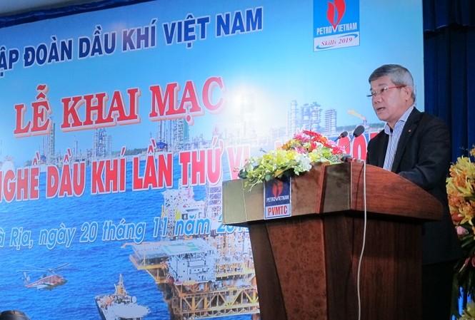 Ông Đỗ Chí Thanh phát biểu khai mạc Hội thi