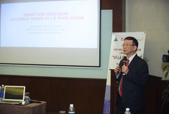 GS. TS. BS. Ngô Quý Châu - Chủ tịch Hội Hô hấp Việt Nam trình bày về Đánh giá hiệu quả chương trình Vì Lá Phổi Khỏe