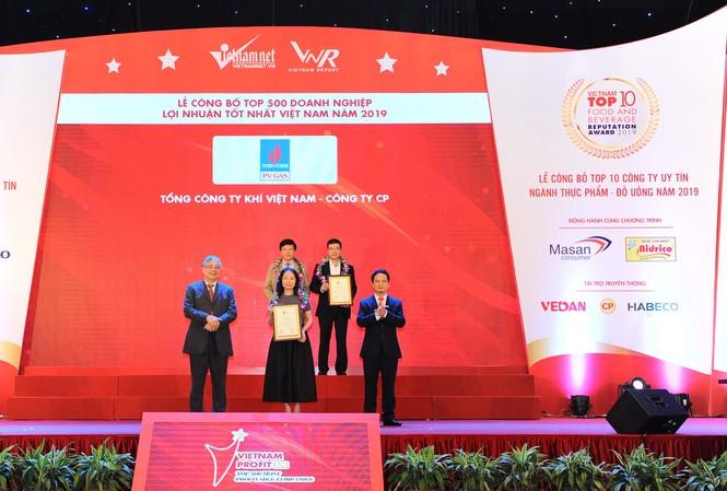 PV GAS được vinh danh trong Top 500 Doanh nghiệp lợi nhuận tốt nhất VN 2019