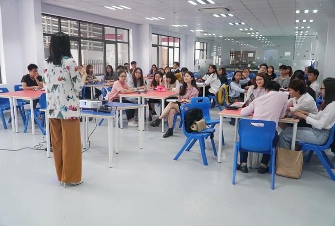 Không gian hội thảo tại trường TH School – đơn vị tài trợ địa điểm cho Hội thảo