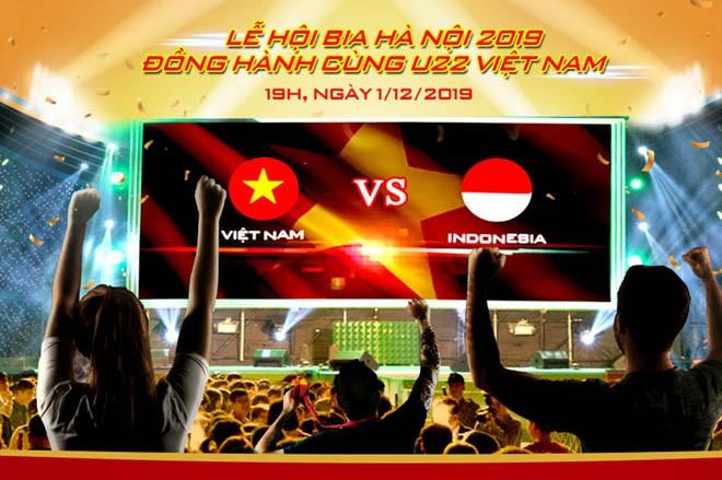 Người hâm mộ bóng đá có cơ hội xem trận đấu Việt Nam – Indonesia tại Lễ hội Bia Hà Nội 2019