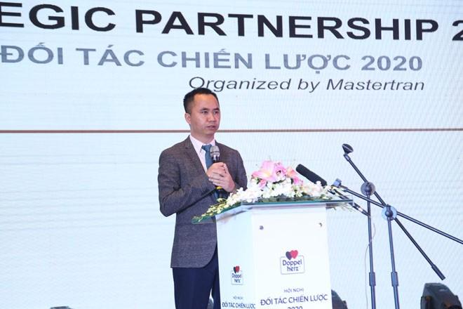 Ông Trần Minh Thao, Tổng giám đốc Công ty CP Mastertran chia sẻ tại Hội nghị đối tác chiến lược 2020