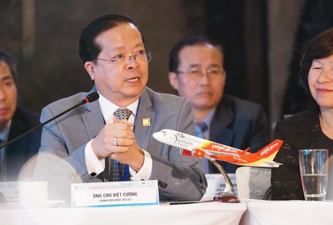 Ông Chu Việt Cường - Thành viên HĐQT Vietjet chia sẻ tại Hội nghị