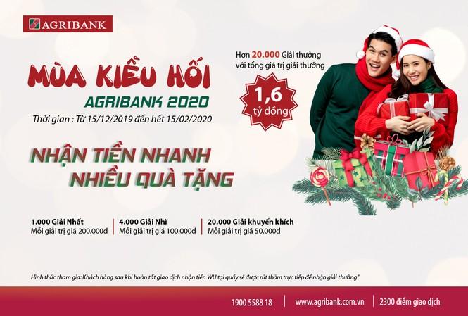 Mùa kiều hối Agribank, nhận tiền nhanh nhiều quà tặng