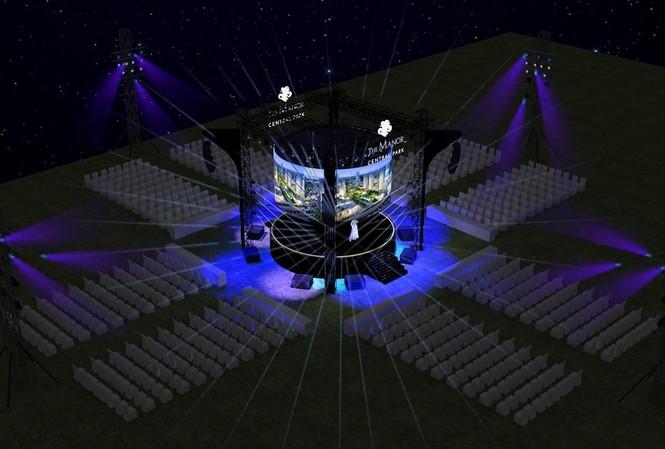 """""""The Symphony Of Love"""" được thể hiện độc đáo với sân khấu trung tâm,  màn led hình vòng cung chân thực và sống động"""