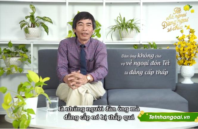 TS Lê Thẩm Dương ủng hộ đàn ông cho vợ về ngoại ăn tết