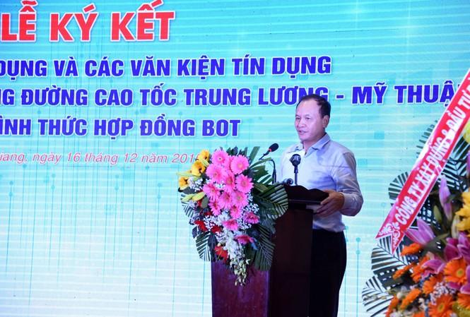 Ông Nguyễn Nhật - Thứ trưởng Bộ GTVT phát biểu tại Lễ ký kết