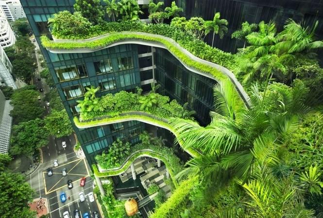 Singapore là quốc gia điển hình trong xây dựng kiến trúc xanh tại Châu Á