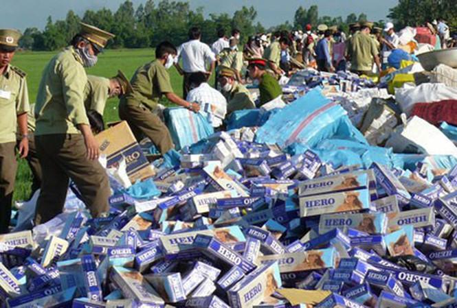 Nhiều vướng mắc trong xử lý thuốc lá lậu ở Việt Nam
