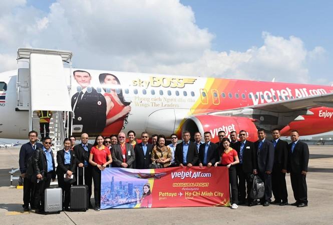 Đường bay TPHCM – Pattaya của Vietjet chính thức được khai thác.