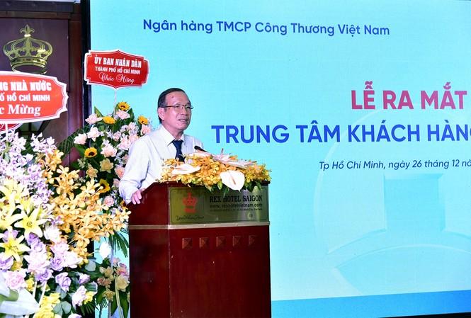 Phó Giám đốc NHNN TP.HCM phát biểu tại Lễ ra mắt Trung tâm khách hàng phía Nam