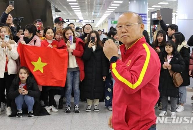 Huấn luyện viên Park Hang-seo luôn là tâm điểm của sự chú ý mỗi khi xuất hiện
